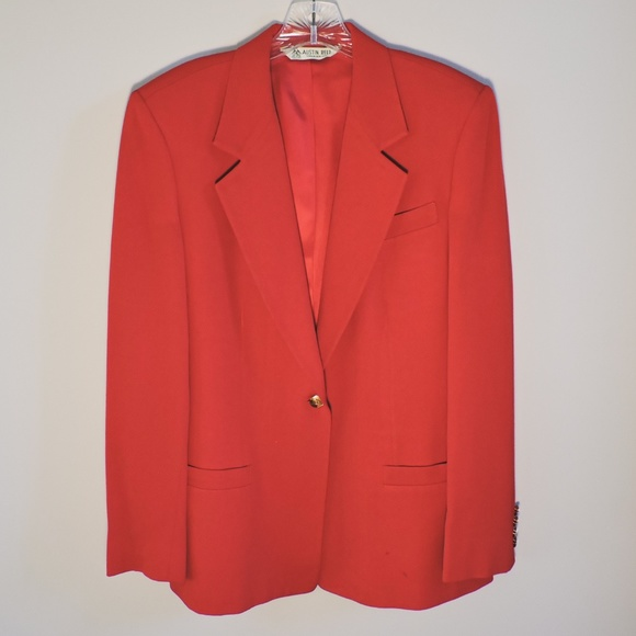 Austin Reed Jackets Coats Austin Reed Womens Suit Jacket Red Poshmark